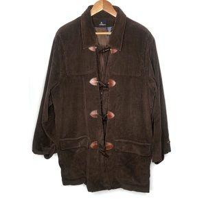 LizSport Vtg Brown Corduroy Long Coat Jacket Large